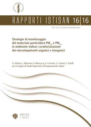 ISS - Strategie di monitoraggio del materiale particellare PM10 e PM2,5 in ambiente indoor